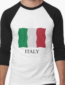 Italian flag Men's Baseball ¾ T-Shirt