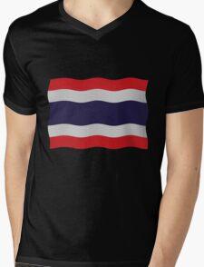 Thailand flag Mens V-Neck T-Shirt