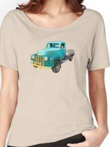 Old Flat Bed Ford Work Truck Women's Relaxed Fit T-Shirt
