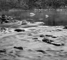Huron River Rapids - Dexter, Michigan by Robert Kelch, M.D.