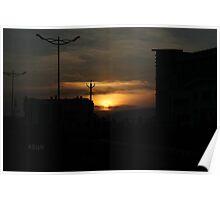 urban sunset Poster