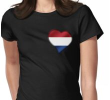 Dutch Flag - Netherlands - Heart Womens Fitted T-Shirt