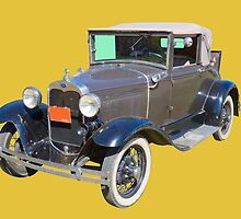 Model A Ford Roadster Convertible Antique Car by KWJphotoart