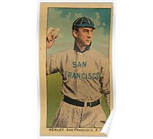 Benjamin K Edwards Collection Henley San Francisco Team baseball card portrait Poster