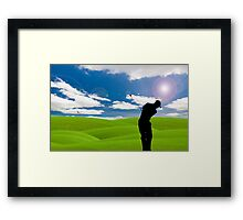 golf fairway Framed Print