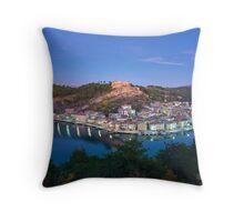 Blue Novigrad Throw Pillow