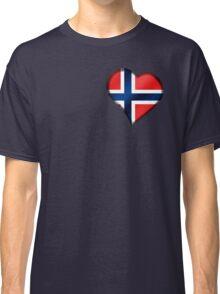 Norwegian Flag - Norway - Heart Classic T-Shirt
