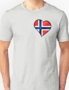 Norwegian Flag - Norway - Heart T-Shirt