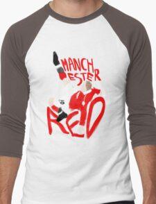 Manchester is Red Men's Baseball ¾ T-Shirt