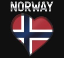 Norway - Norwegian Flag Heart & Text - Metallic by graphix