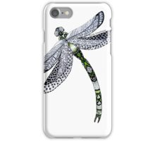 Zentangle Emerald Dragonfly iPhone Case/Skin