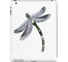 Zentangle Emerald Dragonfly iPad Case/Skin