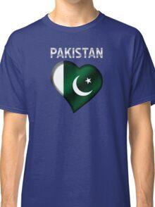 Pakistan - Pakistani Flag Heart & Text - Metallic Classic T-Shirt
