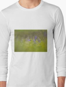Selective focus on a cluster of Blue lupin (Lupinus pilosus) Long Sleeve T-Shirt