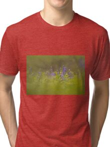Selective focus on a cluster of Blue lupin (Lupinus pilosus) Tri-blend T-Shirt