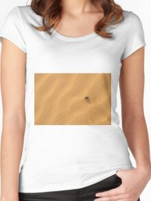 Adesmia dilatata beetle on a sand dune. Women's Fitted Scoop T-Shirt