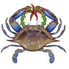 Blue Crab Wreath by Tamara Clark