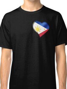 Filipine Flag - Philippines - Heart Classic T-Shirt