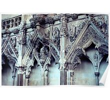 Lady Chapel Carvings Poster