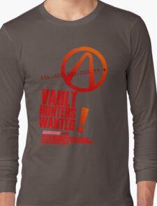 Borderlands 2 Vault Hunters Wanted! Long Sleeve T-Shirt