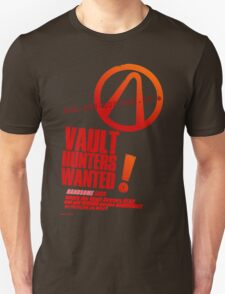Borderlands 2 Vault Hunters Wanted! T-Shirt