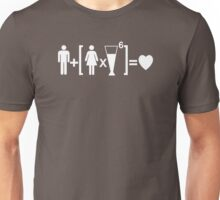 Drinking and Love Humor Unisex T-Shirt