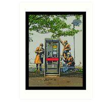 GCHQ listening post by Banksy Art Print