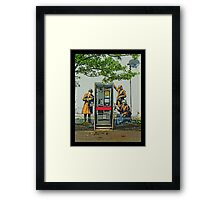 GCHQ listening post by Banksy Framed Print