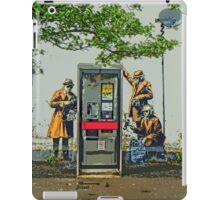 GCHQ listening post by Banksy iPad Case/Skin