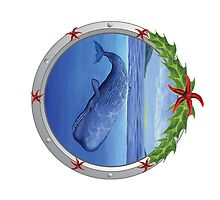 Holiday Sperm Whale by Tamara Clark