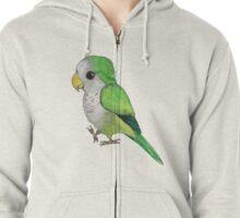 Very cute green quaker parrot Zipped Hoodie