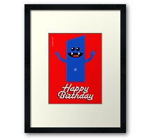 HAPPY BIRTHDAY 1 Framed Print