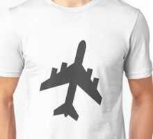 Plane Silhouette Unisex T-Shirt