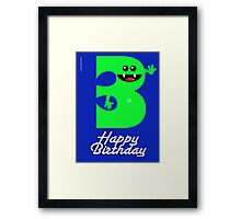 HAPPY BIRTHDAY 3 Framed Print