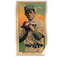 Benjamin K Edwards Collection Willett Vernon Team baseball card portrait Poster