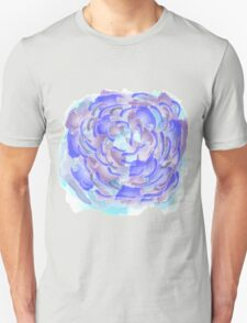 Purple, blue and pink abstract flower design Unisex T-Shirt