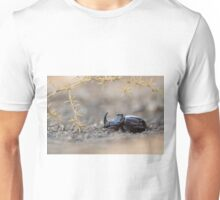 Horned or Spanish Dung beetle (Copris hispanus). Unisex T-Shirt