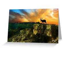 SUNSET ON THE MOUNTAINS, by E.Giupponi Greeting Card
