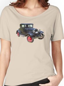 Antique Black Ford Model A Roadster Women's Relaxed Fit T-Shirt