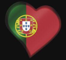 Portuguese Flag - Portugal - Heart Kids Tee