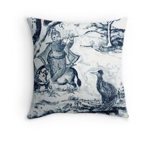 LORD KRISHNA AND FRIENDS Throw Pillow