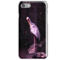 shy white crane iPhone Case/Skin