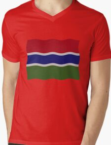 Gambia flag Mens V-Neck T-Shirt