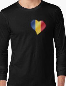 Romanian Flag - Romania - Heart Long Sleeve T-Shirt