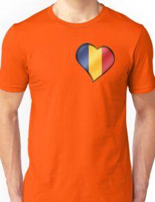 Romanian Flag - Romania - Heart Unisex T-Shirt