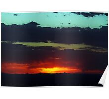 Sunset over Southern New Mexico Poster