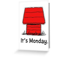 Snoopy Monday Greeting Card