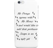 Marauders Map Mr Prongs iPhone Case/Skin