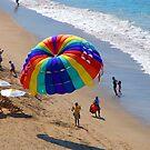 Colourful parachute at Olas Altas Beach - Paracaídas colorido, Puerto Vallarta, Mexico by PtoVallartaMex