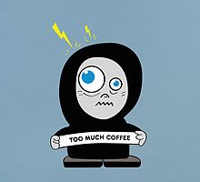 Crazy Character Too Much Coffee IPhone Case by Boriana Giormova